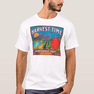 Ernte-Zeit Apple beschriften - Yakima, WA T-Shirt