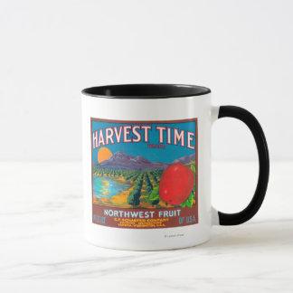 Ernte-Zeit Apple beschriften - Yakima, WA Tasse