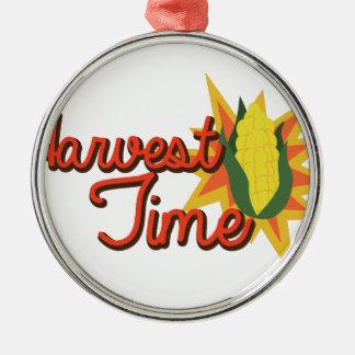 Ernte-Zeit-Mais Silbernes Ornament
