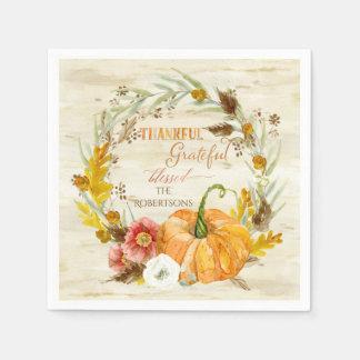 Erntedank-dankbarer dankbarer gesegneter serviette