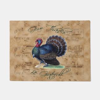 Erntedank die Türkei auf Vintagem Musik-Blatt Türmatte