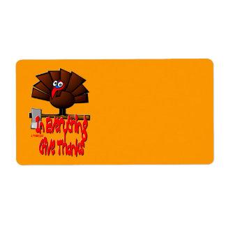 Erntedank die Türkei - in ALLES geben Sie Dank