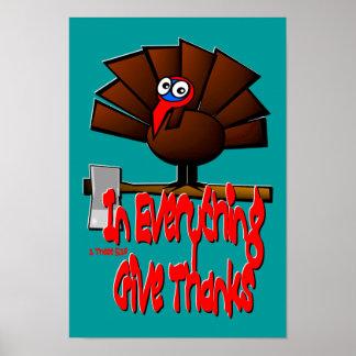 Erntedank die Türkei - in ALLES geben Sie Dank Poster