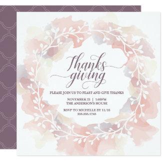 Erntedank-Einladung, die Gewohnheit, elegant laden Karte
