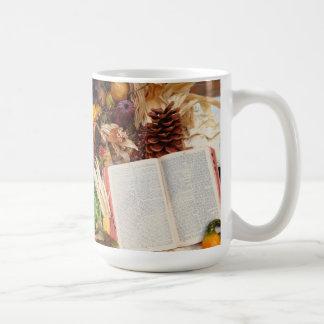 Erntedank-Ernte und Bibel Kaffeetasse