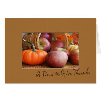 Erntedank-Frucht-Karte