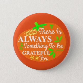 Erntedank-immer dankbare Kürbis-Typografie Runder Button 5,1 Cm