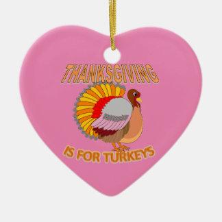 Erntedank ist für Truthähne Keramik Herz-Ornament