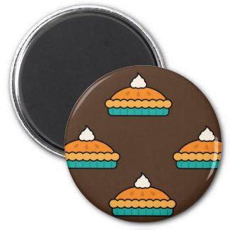 Erntedank-Kürbis-Torten-Torten-Nachtisch-Kürbis Runder Magnet 5,1 Cm