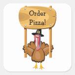 Erntedank-Pizza (kundengerecht) Aufkleber