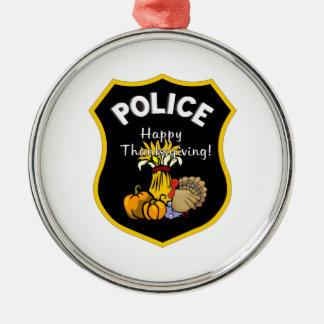 Erntedank-Polizei Silbernes Ornament