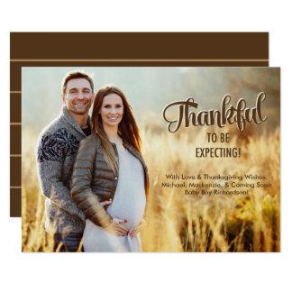Erntedank-Schwangerschafts-Mitteilungs-Karten-Foto 12,7 X 17,8 Cm Einladungskarte