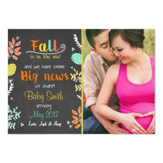 Erntedankfallschwangerschafts-Mitteilung Herbst Karte