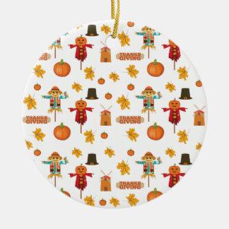 Erntedankmuster Keramik Ornament