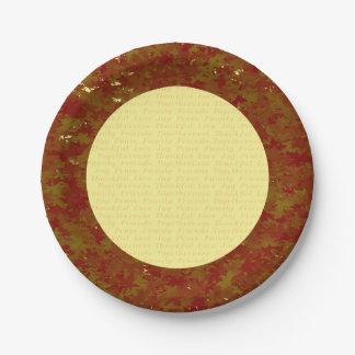 ErntedankpapierTeller Pappteller