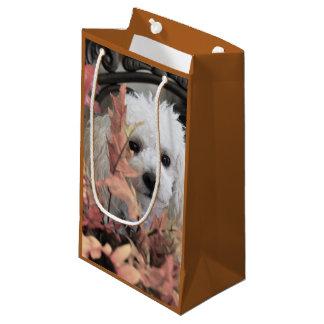 Erntedankpudelhundegeschenktasche Kleine Geschenktüte