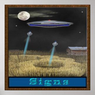Erntekreis-UFO-Plakat Poster