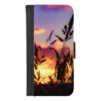 Ernten und Sonnenuntergang iPhone 8/7 Geldbeutel-Hülle