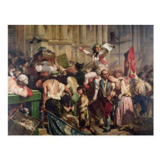 Eroberer der Bastille vor dem Hotelde Postkarte