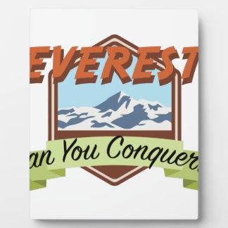 Erobern Sie Everest Fotoplatte