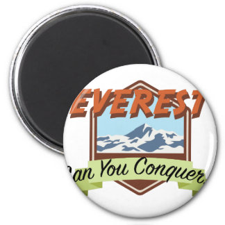 Erobern Sie Everest Runder Magnet 5,1 Cm