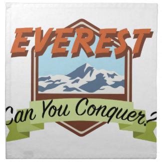 Erobern Sie Everest Stoffserviette