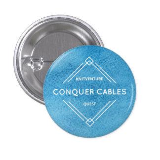 Erobern Sie Kabel Knitventure Suche-Abzeichen Runder Button 3,2 Cm
