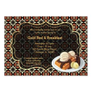 Eröffnungs-Bett u. Frühstück 12,7 X 17,8 Cm Einladungskarte