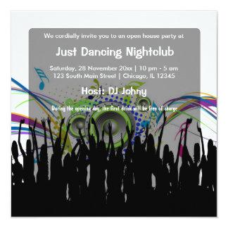 Eröffnungs-Nachtklub Quadratische 13,3 Cm Einladungskarte