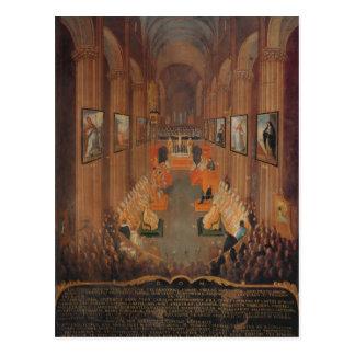 Eröffnungssitzung des Rates von Trent Postkarte