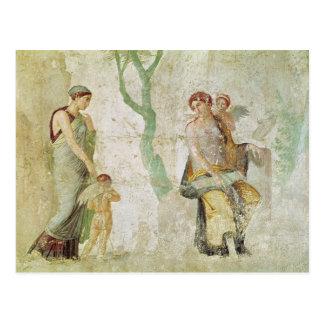 Eros, der in Anwesenheit der Aphrodite bestraft Postkarte
