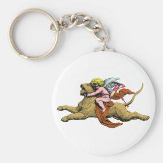 Eros reitet Löwe rides lion Schlüsselanhänger