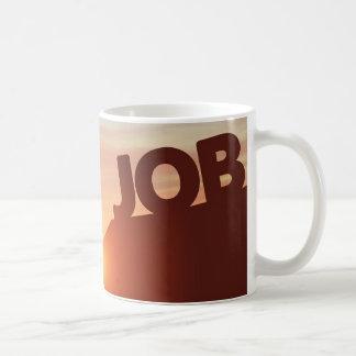 Erreichen für einen Job Kaffeetasse
