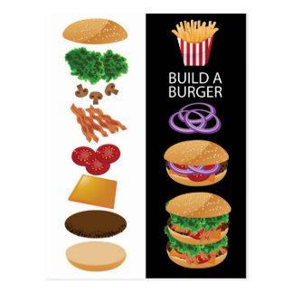 Errichten Sie einen Burger Postkarte