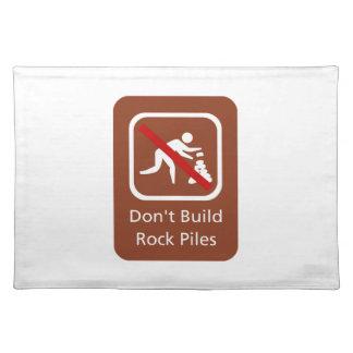 Errichten Sie nicht Felsen-Stapel, Zeichen, Tisch Set