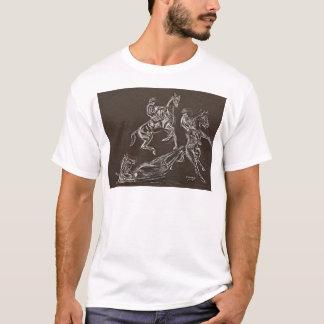 Errichtung der Pferdezeichnungen von Conway T-Shirt