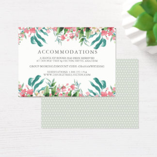 Erröten Aquarell-Hochzeits-Informations-Minikarte Visitenkarte