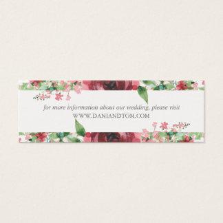 Erröten Aquarell-Hochzeits-Website-Karten Mini | Mini Visitenkarte