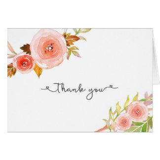 Erröten BlumenBrautparty-Hochzeit danken Ihnen Karte