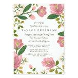 Erröten Blumenstrauß-Brautparty 12,7 X 17,8 Cm Einladungskarte
