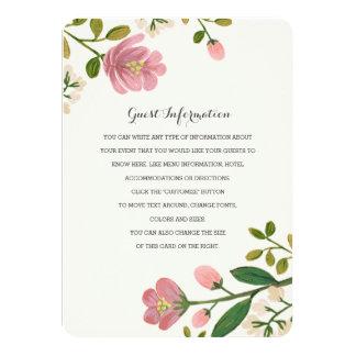 Erröten Blumenstrauß-Hochzeits-Einsatz 11,4 X 15,9 Cm Einladungskarte