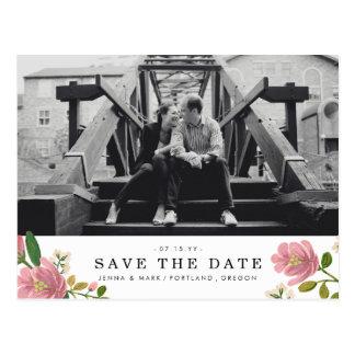 Erröten Blumenstrauß Save the Date Postkarte