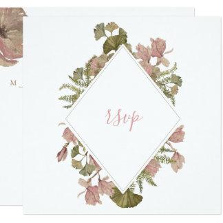 Erröten christliche Hochzeit UAWG mit Blumenkarte Karte