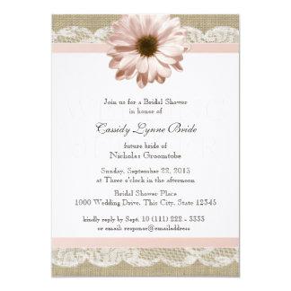 Erröten Gänseblümchen-Land-Spitze-Polterabend 12,7 X 17,8 Cm Einladungskarte