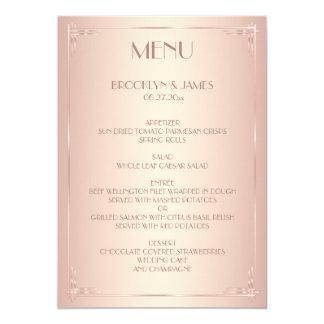 Erröten Hochzeits-Menü-Vintage Karten 12,7 X 17,8 Cm Einladungskarte
