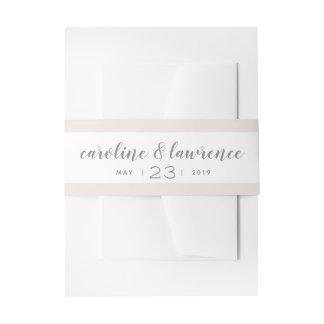 Erröten Kalligraphie-Hochzeits-Band mit Datum Einladungsbanderole