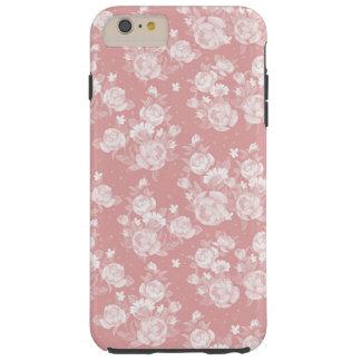 Erröten korallenrotes weißes boho Vintage elegante Tough iPhone 6 Plus Hülle