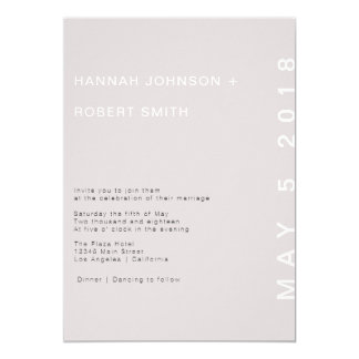 Erröten moderne Hochzeits-Einladung Karte