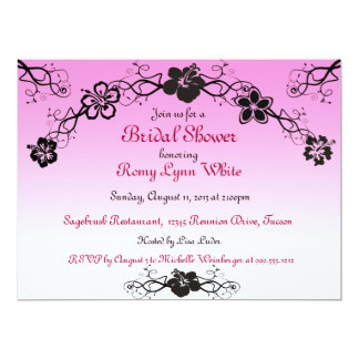 Erröten polynesische Brautparty-Einladungen 16,5 X 22,2 Cm Einladungskarte