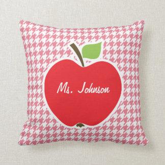 Erröten rosa Hahnentrittmuster; Apple Kissen